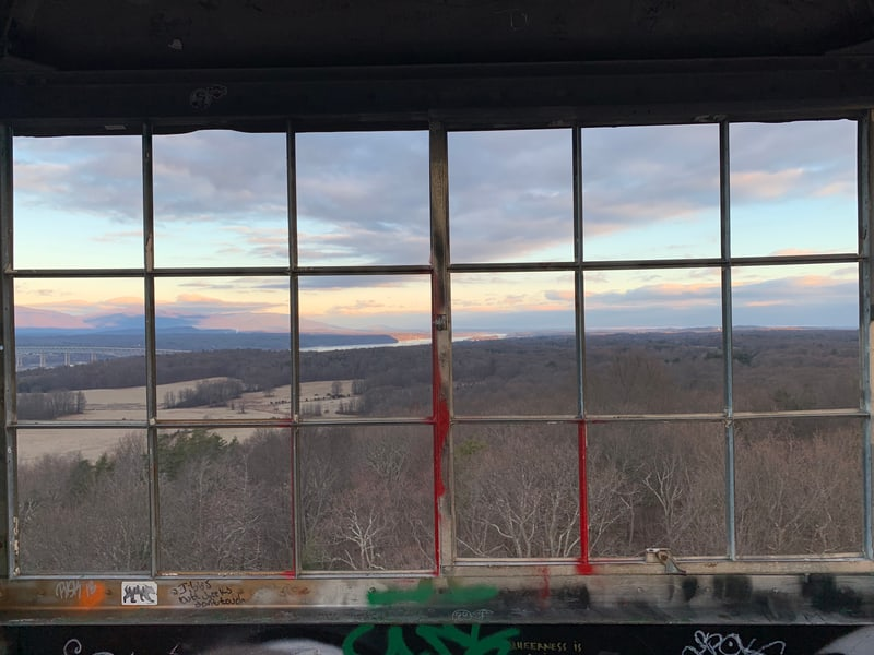 View from Ferncliff Forest observation tower