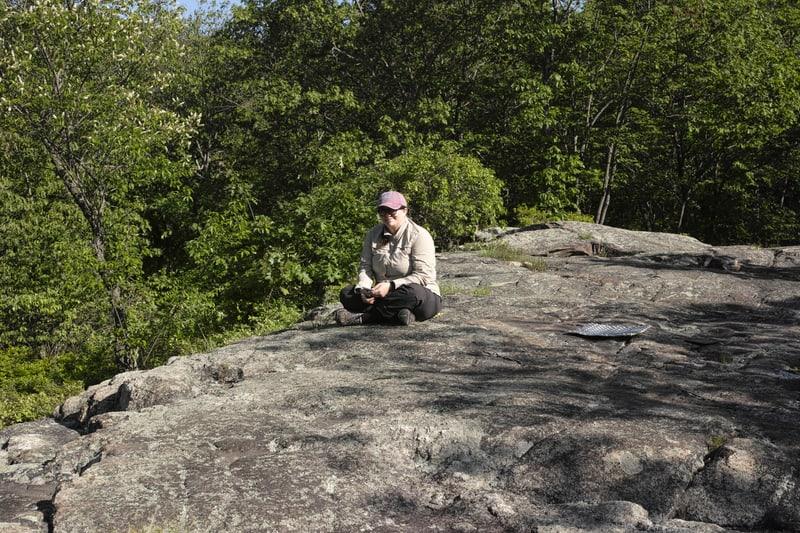 M-- on a rock