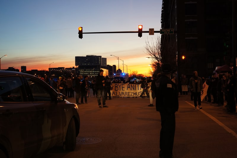 Protesting Anita Alvarez, Cook County State's Attorney