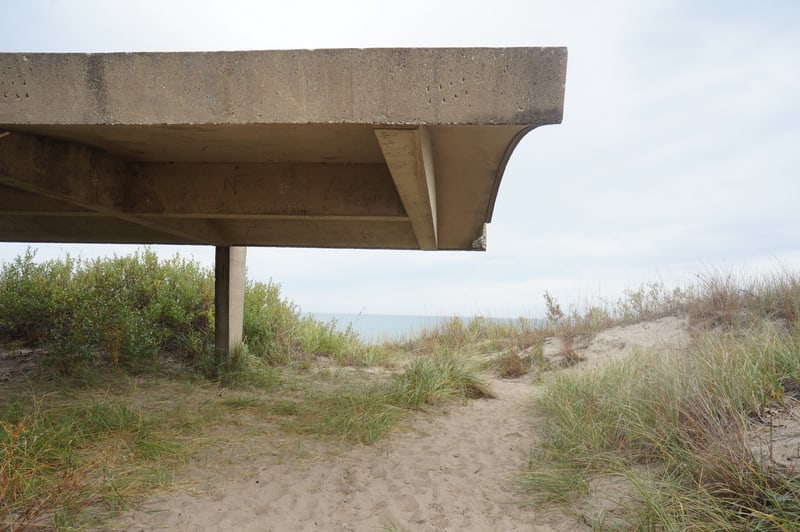 Shelter at Illinois Beach State Park