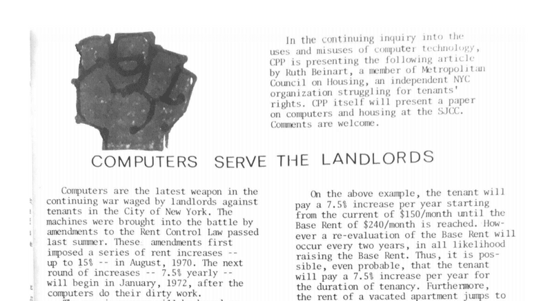 Computers Serve the Landlords