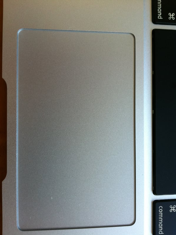 MacBook Air trackpad