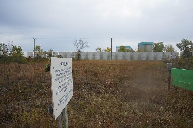 Hosah Park looking south toward Zion Nuclear Power Plant