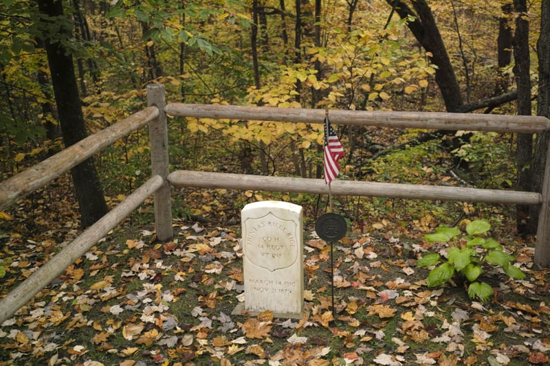 A cemetery of one, for a Union veteran