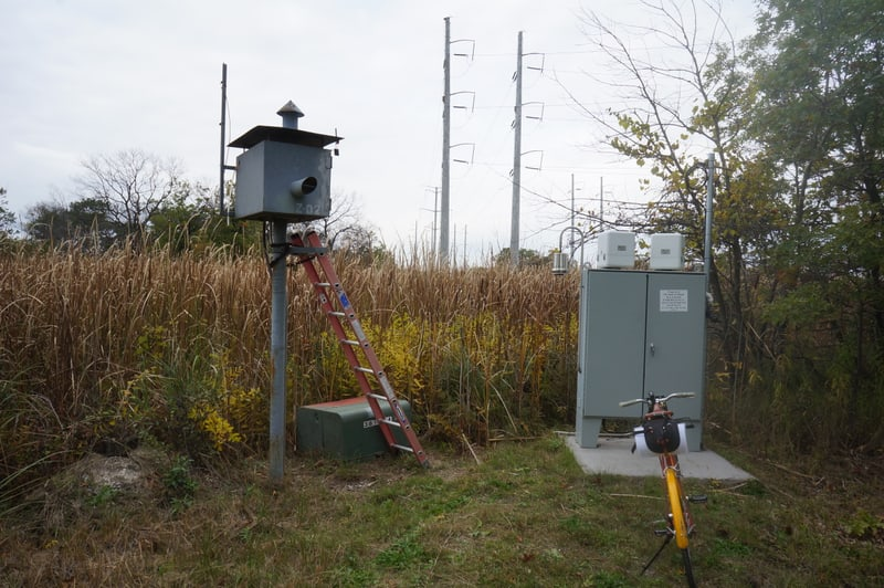 Radiation monitoring station at Zion Nuclear Power Plant