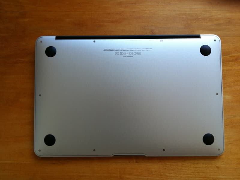 Underside of MacBook Air