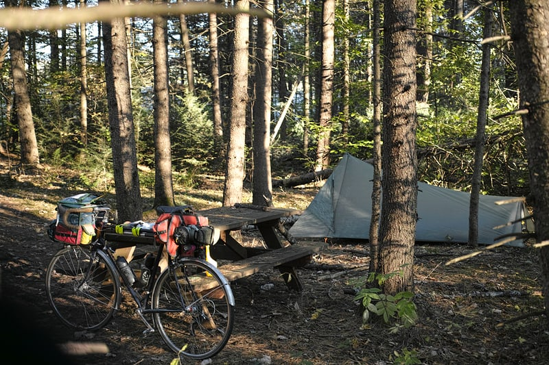 Randolph Town Forest campsite